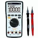 Digital Multimeter, SURPEER Multi Kondensator Tester True RMS Auto Range Voltmeter - DC AC Spannung Strom Ohm Widerstand Diode Temperatur Kontinuität Frequenz Elektrische Feldprüfung