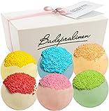 BRUBAKER Cosmetics - Juego de 6 bombas de baño 'Rainbow Cake', hechas a mano