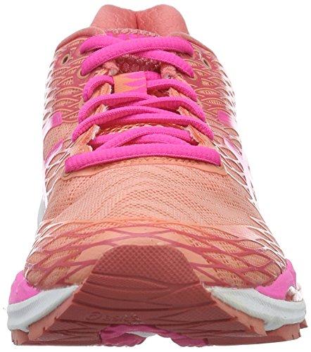 Asics W S Gel-Nimbus 18, Scarpe da Corsa Donna Multicolore (Peach Melba/Hot Pink/Guava)