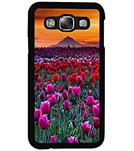 ColourCraft Lovely Flowers Design Back Case Cover for SAMSUNG GALAXY E5