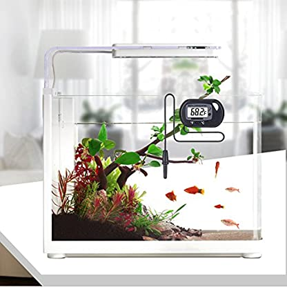 H.W.T Digital Fish Tank Water Aquarium Marine Vivarium Thermometer with Suction Cup Probe Cable & LCD Screen 4
