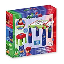 Bildo 9717 PJ Masks Big Colouring Table with Stool, Multi color , 3 Years & Above