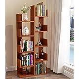 Bücherregale HUO Boden-Kinderstudenten-Ecken-Baum-kreatives Regal (Farbe : Teak)