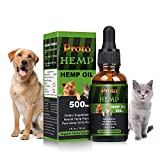 ProtoHemp Hemp oil for Dogs 500mg, Organic Hemp oil for Pets, Great for Pain Relief | Anxiety |Calming |Pet Recovery| Supplement for Joint & Hips|| Pain | Treats Skin | Sleep FDA Approved (500mg)
