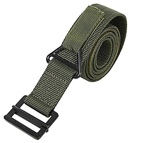 Simshew Gürtel Tactical Web Belt für Herren, Nylon Outdoor Security CQB Combat Verstellbarer Gürtel mit Metallschnalle für Jagd-Notfall-Rigger Survival - Grün Wunderschönen (Color : Green) -