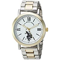 U.S. Polo Assn. Women's Quartz Metal and Alloy Casual Watch, Color Two Tone (Model: USC40261AZ)