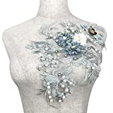 3D Dentelle Appliqué Patch Floral Floral Tissu Brodé Main pour Bricolage Décoré Artisanat Costume De Couture Soirée Robe De Mariée Vêtements De Mariée Haut De Mariage De Mariage