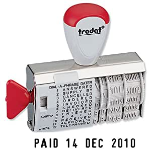 Trodat Dial-A-Word Date Stamp