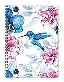 Ladytimer Ringbuch Hummingbird 2020 - Taschenplaner - Taschenkalender A5 - Schülerkalender - Weekly - Ringbindung - 128 Seiten - Terminplaner