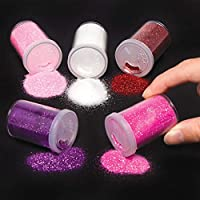 Baker Ross Red, Pinks & Purple Glitter Shakers (Pack of 5) Perfect For Kids Valentines Day Themed Arts and Crafts