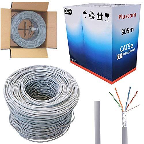 safekom 305m RJ45CAT6FTP Gigabit Netzwerk Ethernet LAN Modem Router 4Paar Patchkabel Kupfer, Folie abgeschirmtes führen -