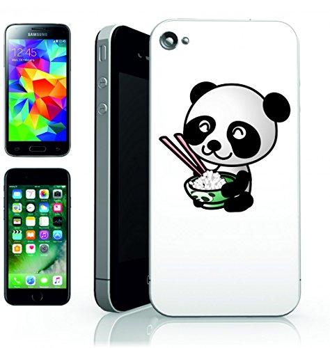 Smartphone Case Panda animale di dieta di riso cinese felice mangiare per Apple Iphone 4/4S, 5/5S, 5C, 6/6S, 7& Samsung Galaxy S4, S5, S6, S6Edge, S7, S7Edge Huawei HTC–Divertimento Motiv di c