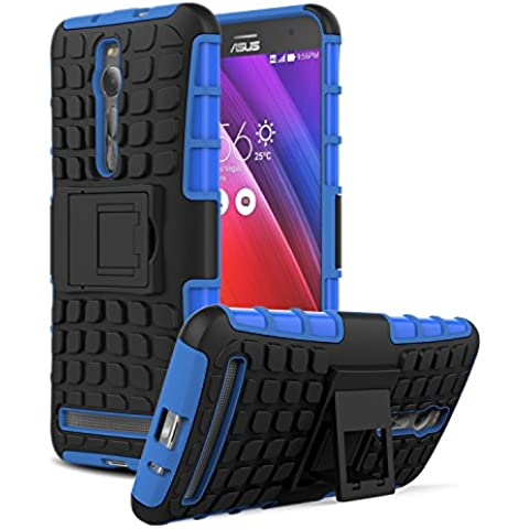ASUS ZenFone 2 Funda - MoKo [Heavy Duty] Rugged Armor con Kickstand Cover Funda - Dual Layer Shock Resistant ASUS ZenFone 2 5.5 Inch Android OS Smart Phone 2015 ,