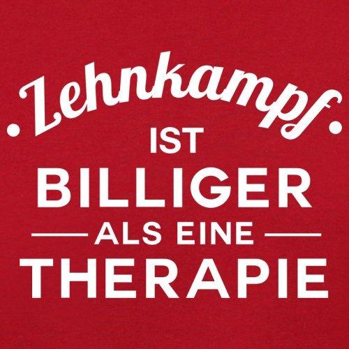Zehnkampf ist billiger als eine Therapie - Damen T-Shirt - 14 Farben Rot