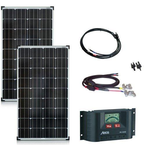 260 Watt Solaranlage 12V - Bausatz mit Laderegler, Solarmodul und allen Kabeln