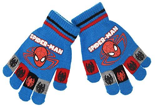 Handschuhe Kinder Jungen Spider-Man gedruckt Spinnen rot und blau Du blau blau einheitsgröße
