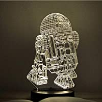 JJZXD Night Light - Gifts 3D Illusion Lamp Toys LED Night Light for Kids Room Decor