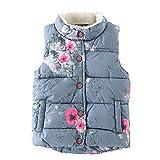 Brightup Mädchen Herbst Winter Warm Gilets, Kleine Mädchen Weste Mantel, Kinder Weste Jacken