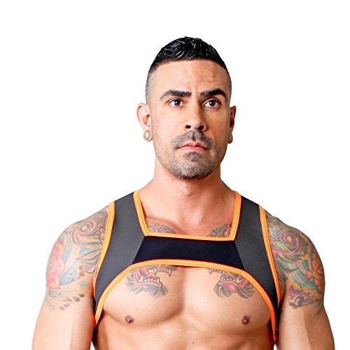 Cellblock 13 - Stryker Harness - Oberkörper Harness - schwarz / orange - Gr. M - (1 x 1 Stück) -