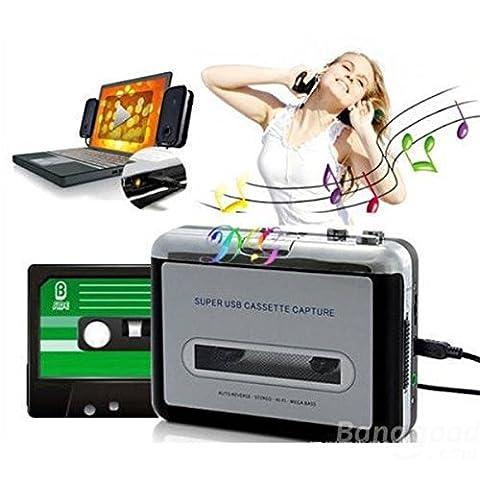 mark8shop portable USB Cassette Capture Cassette vers PC Super USB Cassette to MP3convertisseur capture cassette
