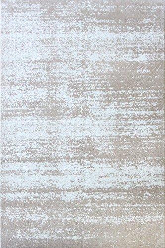A2Z Tapis Contemporain Zone Tapis Moderne Palma 1787 Tapis Home D COR, Blanc, 140x200 cm - 4'6\