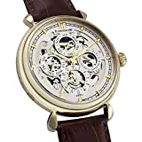 Thomas-Earnshaw-Grand-calendar-Mens-Automatic-Watch-with-White-Dial-Analogue-Display-with-Brown-Leather-Strap-ES-8043-03