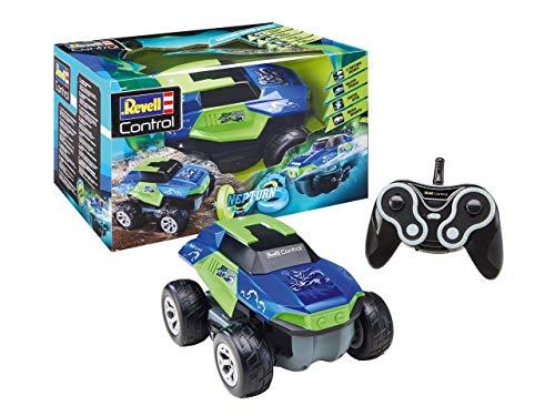 Revell Control 24648 RC Stunt Car NepTurn, 2in1-SUV, umschaltbar per Knopfdruck, 2.4 GHz Fernsteuerung ferngesteuertes Auto/Boot, Amphibien-Fahrzeug, 24,5cm