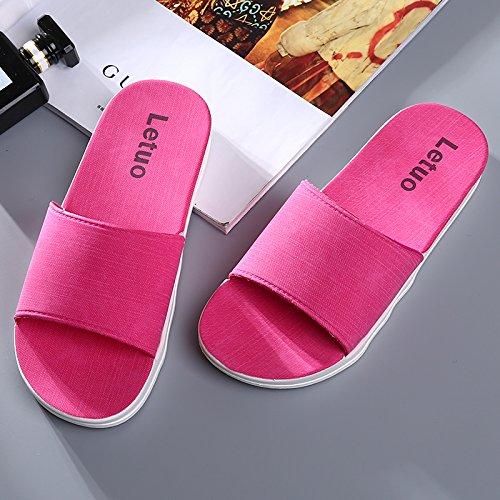 vasca morbido pantofole pantofole pantofole Home bagno Casa Cool pantofole red estate di Aemember Peach bagno da coppie fondo ispessimento estate qzwSvX5a