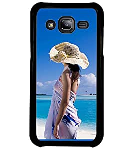 Printvisa Girl On A Beach Back Case Cover for Samsung Galaxy J2::Samsung Galaxy J2 J200F