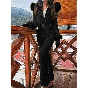 lingzhuo-shop Frauen Damen Skianzug Einteiler Skioverall Blau Schwarz Weiß Einteilig Ski Suit Snowsuit Outdoor Sports Hosen Skianzug Regenanzug Neoprenanzug Für Skisport