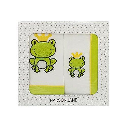 Harson&Jane Premium-Qualität Baumwolle 3 Stück Bettwäsche-Set Bettlaken Pillowcase und Bed Unternehmen für Baby-Newborn (02) Surf-quilt-set