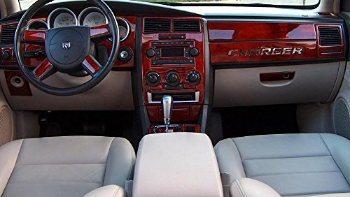 Dodge Charger Innen Burl Wood Dash Trim Kit Set 2005 2006 2007 (Dodge Charger Srt8 2007)