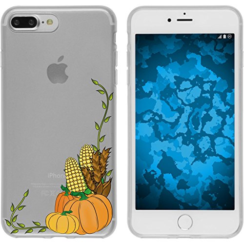 PhoneNatic Case für Apple iPhone 7 Plus / 8 Plus Silikon-Hülle Herbst Spukschloss M4 Case iPhone 7 Plus / 8 Plus Tasche + 2 Schutzfolien Motiv:05