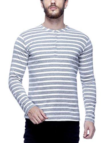 Tinted Men's Cotton Henley T-Shirt TJ103CSF4-GREY-XL