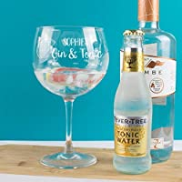 Personalised Gin and Tonic Copa Balloon Glass Gift