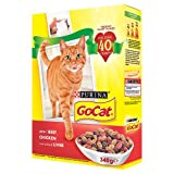 Purina GoCat Complete Adult Dry Cat Food with Beef Chicken and Added Liver, 340 g