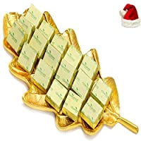 Ghasitaram Gifts Gold Leaf Mixed Nuts Chocolate Platter With Santa Cap