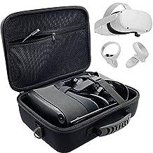 حقيبة أوكولوس كويست صلبة للسفر لسماعة أذن ألعاب وأكسسوارات التحكم في الواقع الافتراضي حافظة تخزين واقية مع حزام كتف