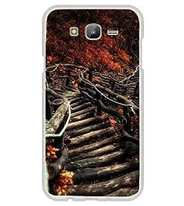 Fuson Designer Back Case Cover for Samsung Galaxy On5 (2015) :: Samsung Galaxy On 5 G500Fy (2015) (Stairs Staircase Woody Cut Wood Deep Forest)
