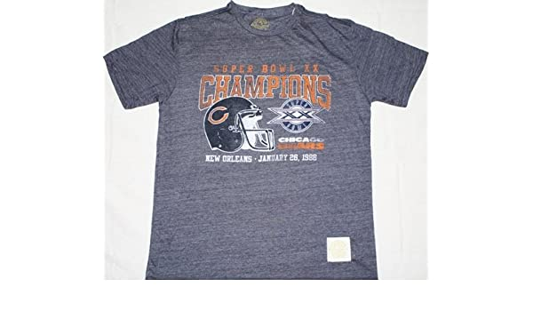 df21ba70cd0 Chicago Bears Reebok Vintage Super Bowl XX Champions Premium T-Shirt: Amazon.co.uk:  Sports & Outdoors