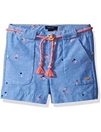 Tommy Hilfiger Girls' Printed Short with Novelty Tassle Belt