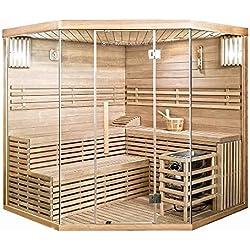 Home Deluxe - Traditionelle Sauna - Skyline XL Big - Holz: Hemlocktanne - Maße: 210 x 200 x 200 cm - inkl. komplettem Zubehör