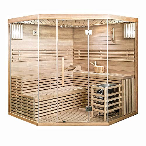 Home Deluxe - Traditionelle Sauna - Skyline XL Big - Holz: Hemlocktanne - Maße: 200 x 200...