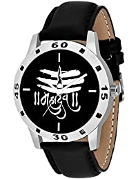 On Time Octus Mahadev Black Dial Analog Watch For Boys And Men-MH-Black-16