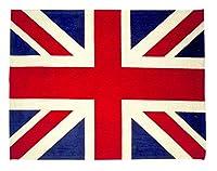 EHC Union Jack Floor Carpet Rug GB Flag, 120 x 160cm, Chenille, Multi-Colour, 120_x_160_cm by Elitehousewares