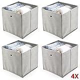 KingSaid 4 Stück Faltbox Faltbare A...