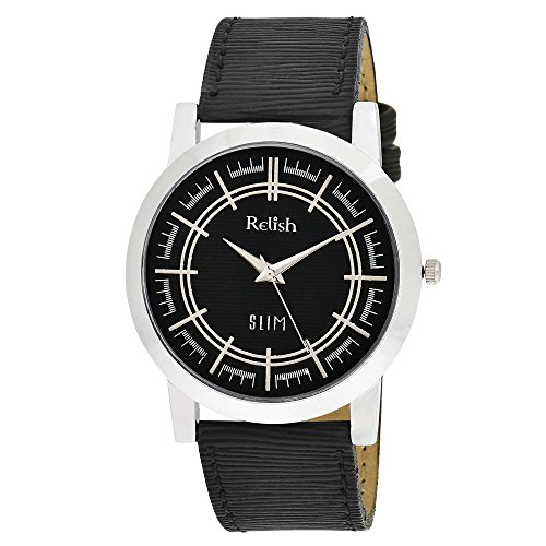 RELISH RE-S8018SB SLIM Black Dial Analog Watch For Mens & Boys