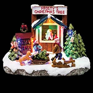 Village de no l lumineux d cor boutique de sapins amazon for Decoration de noel amazon