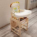 XHHWZB Kinder Esszimmerstuhl Tragbare Multi-Funktions-Massivholz Baby Lernstuhl (kann kombiniert Werden Hochstuhl, kann getrennt Werden) (Farbe : Style B)