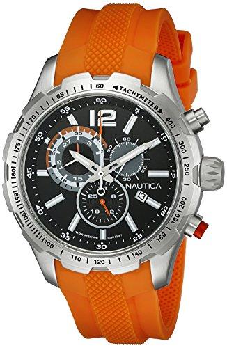 Nautica Men's NAD15510G NST 30 Analog Display Quartz Orange Watch